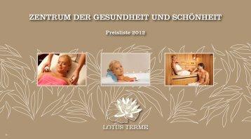 ZENTRUM DER GESUNDHEIT UND SCHÖNHEIT - Hotel Sava ...