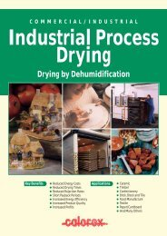 INDUSTRIAL PROCESS DRYING - Calorex