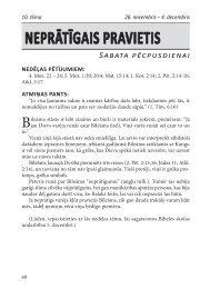 nEPrātīgaIS PraVIEtIS Sabata pēcpusdienai - Rīgas 1. draudze