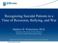 Recognizing Suicidal Patients in a Time of Recession, Bullying, and ...