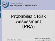Probabilistic Risk Assessment (PRA) - Inpe