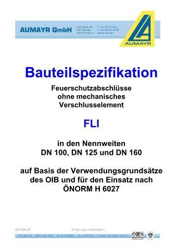 Bauteilspezifikation FLI
