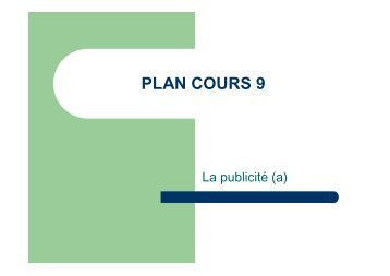 PLAN COURS 9