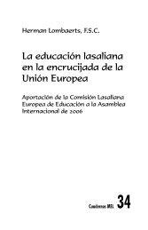 La educación lasaliana en la encrucijada de la Unión ... - La Salle.org
