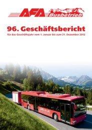 96. Geschäftsbericht 1. Januar bis 31. Dezember 2012