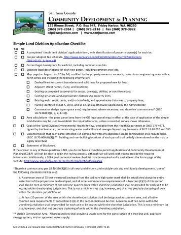COMMUNity DEVELOPMENt & PLANNiNG ... - San Juan County