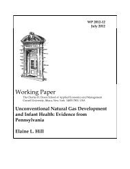 Unconventional Natural Gas Development and Infant Health