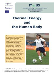 Thermal Energy and the Human Body - Project IT for US