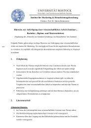 Wirtschafts- und Sozialwissenschaftliche Fakultät - Universität Rostock