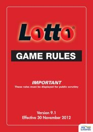 Lotto Game Rules PDF