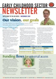 early childhood sector - Australian Education Union, Victorian Branch