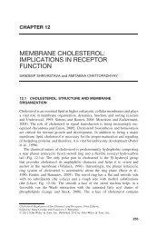 Membrane Cholesterol: Implications in Receptor Function - CCMB