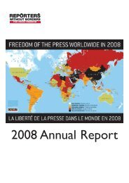 2008 Annual Report - Reporters Without Borders
