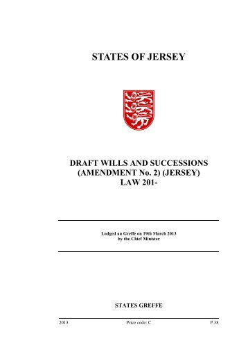 Draft Wills and Successions (Amendment No. 2 ... - States Assembly