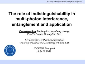 The role of indistinguishability in multi-photon interference ...