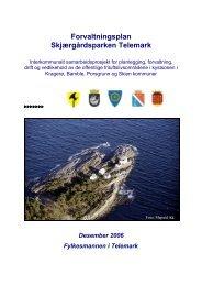 Forvaltningsplan Skjærgårdsparken Telemark