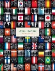 Lehman Brothers 2007 Annual Report – Vanier College
