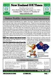 New Zealand DX Times N.Z. RADIO - World FM
