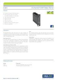 Siqura S-68 E Video servers - SourceSecurity.com
