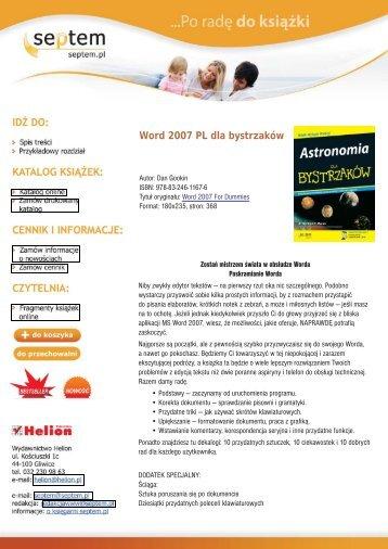 Word 2007 PL dla bystrzaków - Structum
