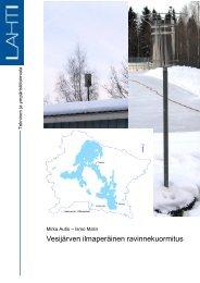 Vesijärven ilmaperäinen ravinnekuormitus - Lahti