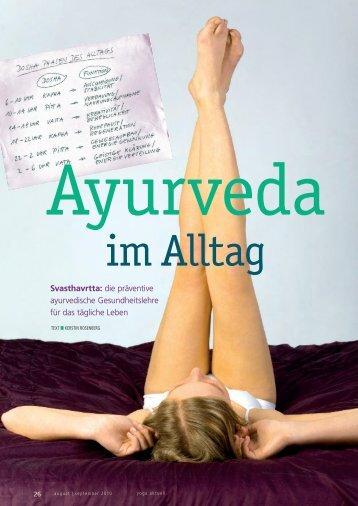 Svasthavrtta: die präventive ayurvedische Gesundheitslehre für das ...