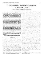Connection-level Analysis and Modeling of Network Traffic - CiteSeerX