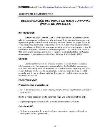 Determinación del Índice de Masa Corporal - Saludmed