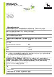 Bewerbungsformular Integrationspreis - Wolfsburg