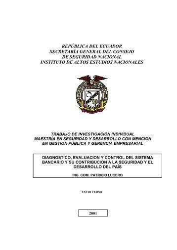 república del ecuador secretaría general del consejo de seguridad ...