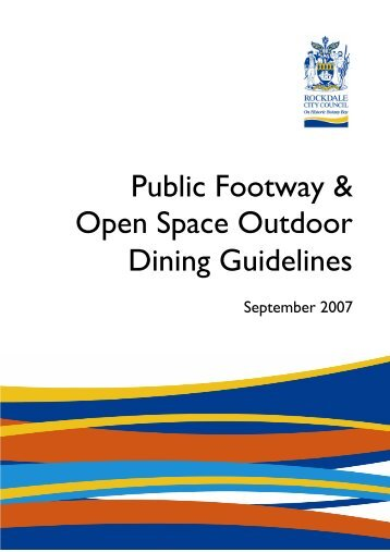 Public Footway & Open Space Outdoor Dining Guidelines