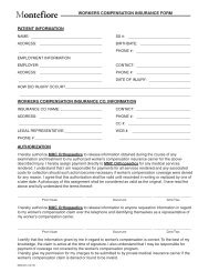 Workers Compensation Form - Montefiore Medical Center