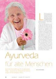 Ayurveda für alte Menschen - Ayurveda Gesundheits