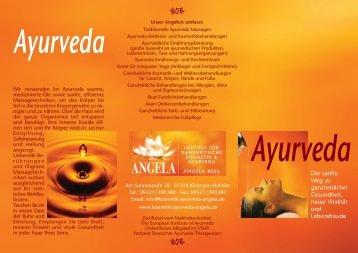 Ayurveda - Institut für ganzheitliche Kosmetik & Ayurveda Angela Bess