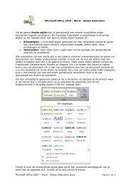 Microsoft Office 2010 - Word - Stijlen Gebruiken - ICT KATHOtielt.be