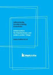 Broschüre - Kulturrat Österreich