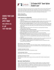 our Smart Option Student Loan - Informational Product Sheet