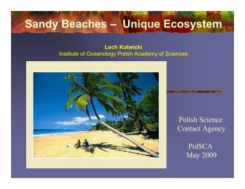Sandy Beaches – Unique Ecosystem - PolSCA