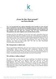 """""""Essen Sie Ihre Haut gesund!"""" von Petra Bracht - Ingar Kroll"""