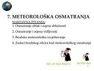 7. METEOROLOÅKA OSMATRANJA