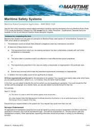 Exemption request form - maritime rules - Maritime New Zealand