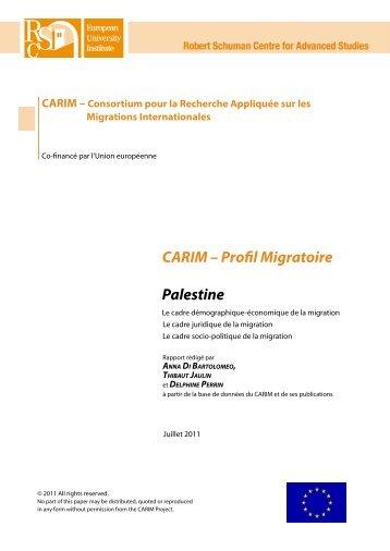 CARIM – Profil Migratoire Palestine - EU Neighbourhood Info Centre