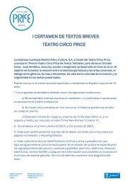 I Certamen de Textos Breves Teatro Circo Price (PDF)