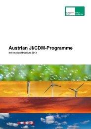 Austrian JI/CDM-Programme - Kommunalkredit Public Consulting