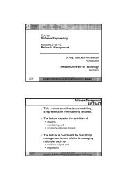 Rationale Management ABSTRACT