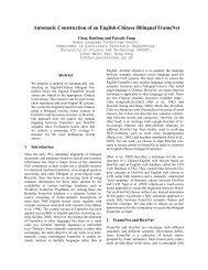 Automatic Construction of an English-Chinese Bilingual FrameNet