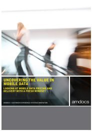 UNCOVERING THE VALUE IN MOBILE DATA - Amdocs