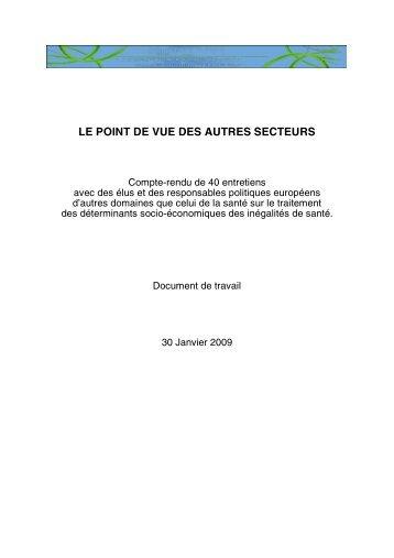 Consultation politiques - Inpes