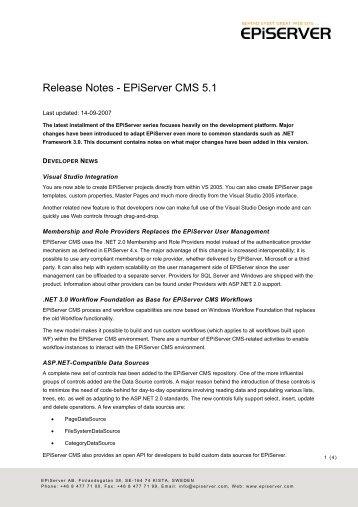 Release Notes EPiServer CMS 5.pdf