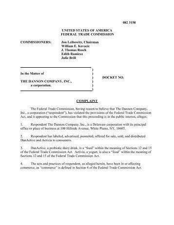Complaint - Federal Trade Commission